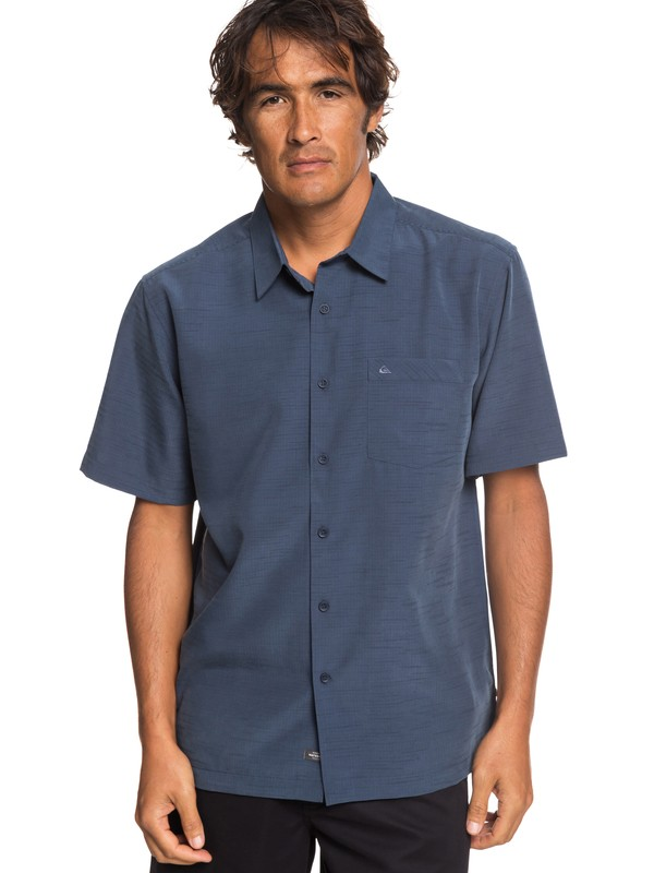 0 Waterman Centinela Short Sleeve Shirt Blue EQMWT03231 Quiksilver