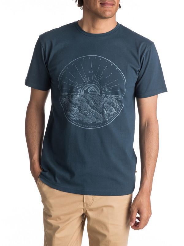 0 Waterman Mountain Sunshine - T Shirt col rond pour Homme  EQMZT03022 Quiksilver