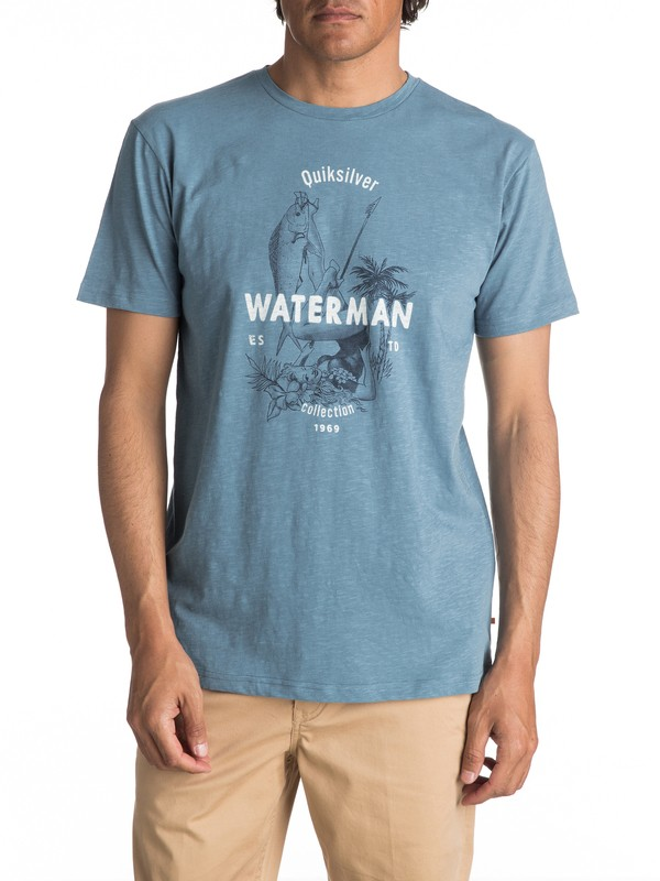 0 Waterman Wife Goals - T Shirt col rond pour Homme  EQMZT03023 Quiksilver