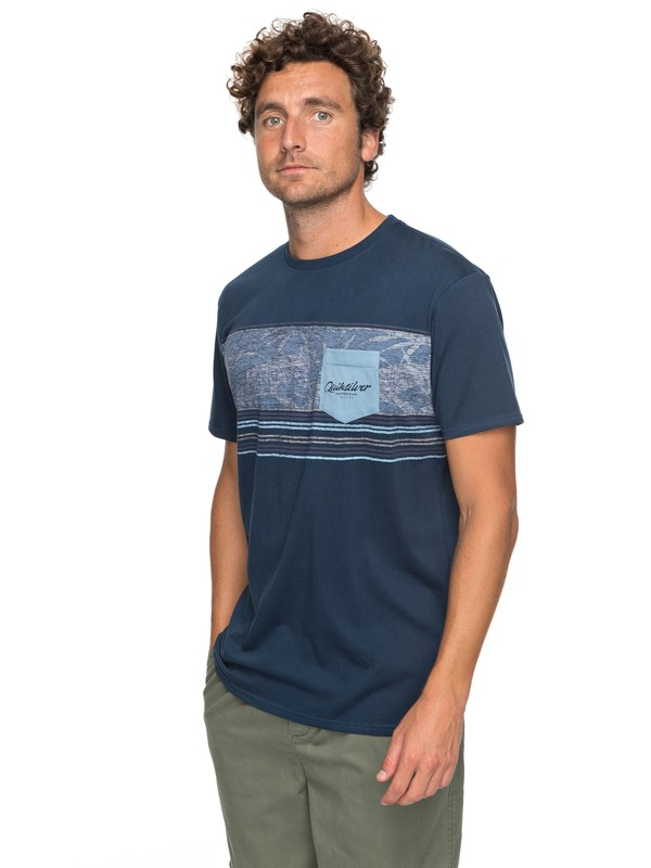 0 Waterman Dream Stringer - Pocket T-Shirt Blue EQMZT03071 Quiksilver