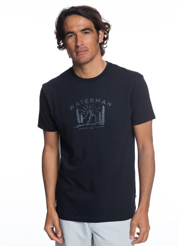 0 Waterman Back To Nature - T-Shirt for Men Black EQMZT03121 Quiksilver