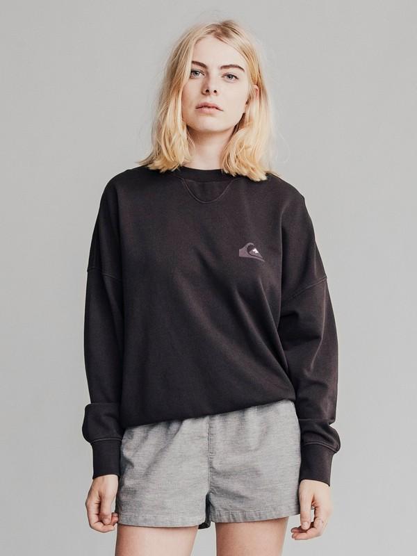 0 Quiksilver Womens - Sweatshirt mit Boxy Fit für Frauen Schwarz EQWFT03001 Quiksilver
