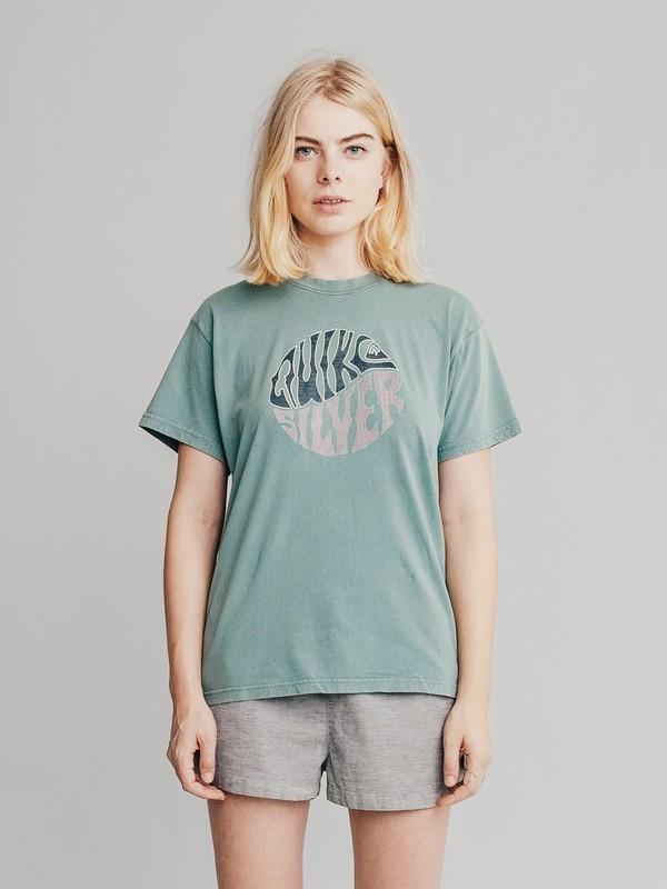 0 Quiksilver Womens - Maglietta da Donna Blue EQWKT03001 Quiksilver