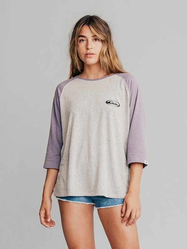 0 Quiksilver Womens - T-Shirt mit 3/4-Ärmeln für Frauen Violett EQWKT03004 Quiksilver