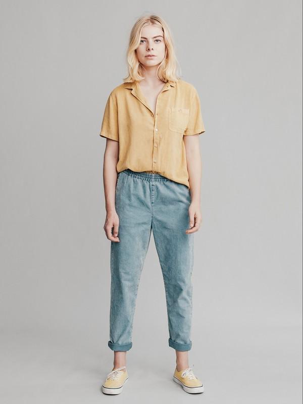 0 Quiksilver Womens - Pantalon fuselé en velours pour Femme Bleu EQWNP03000 Quiksilver