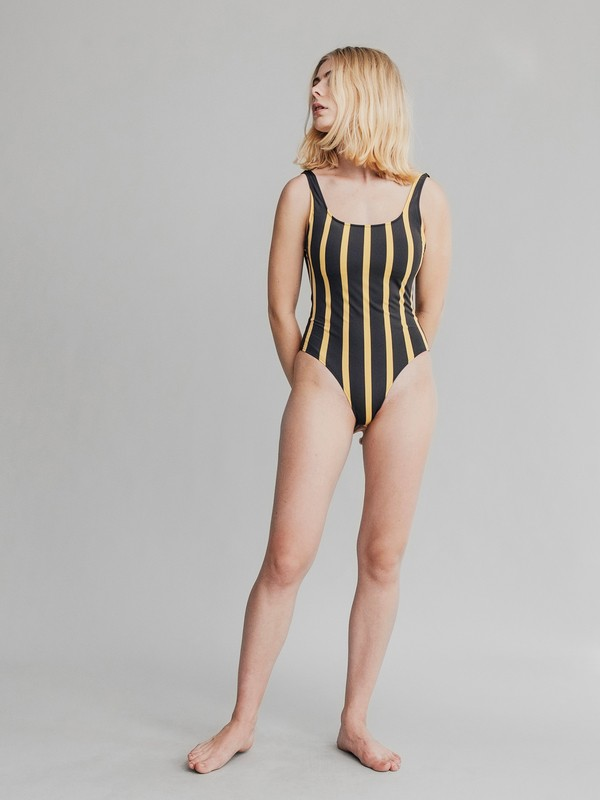 0 Quiksilver Womens One-Piece Swimsuit Yellow EQWX103000 Quiksilver