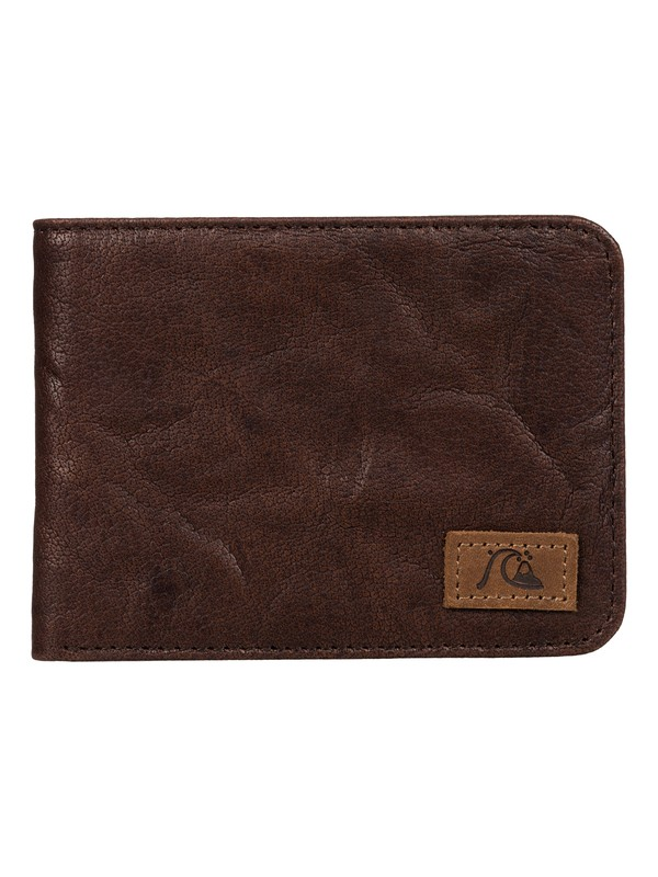 0 Round Up Leather Wallet  EQYAA03212 Quiksilver