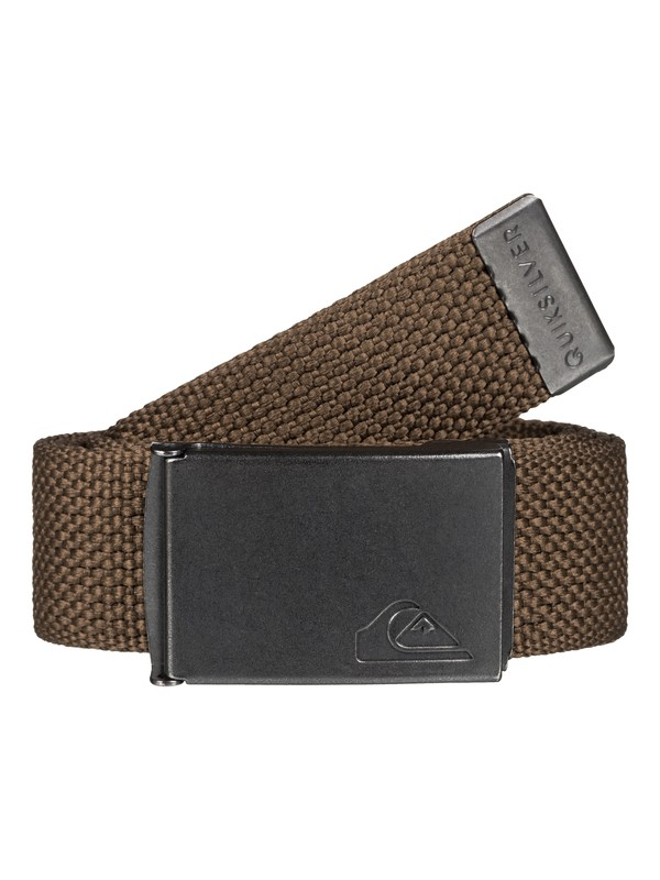 0 Principle Webbing Belt Brown EQYAA03289 Quiksilver