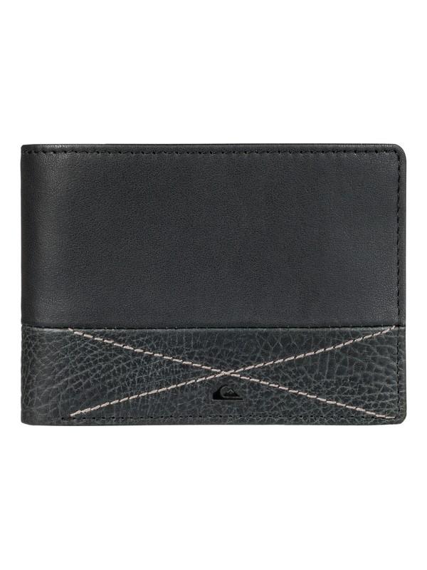 0 New Classic Plus - Leren Portemonnee Black EQYAA03516 Quiksilver