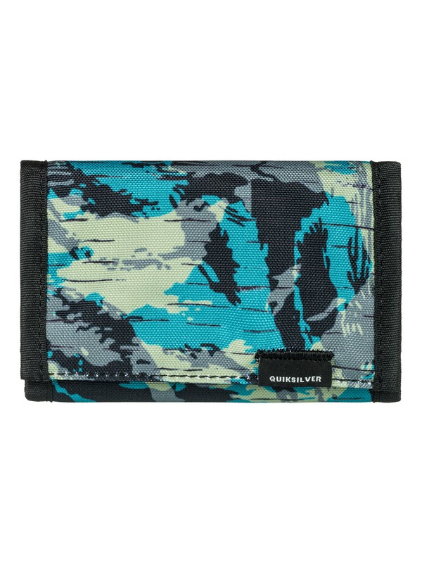 0 Men's The Everydaily Tri-Fold Wallet Black EQYAA03530 Quiksilver