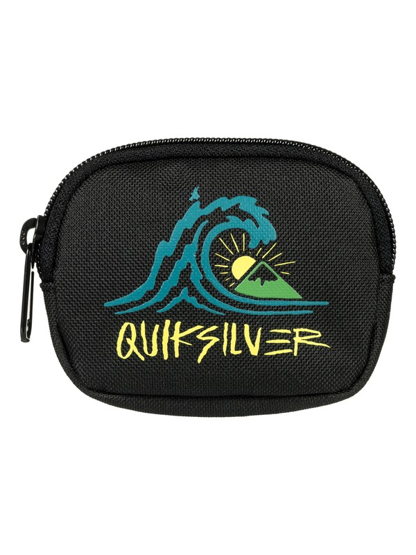 0 Monedero - Zip Coin Pouch for Men Black EQYAA03533 Quiksilver