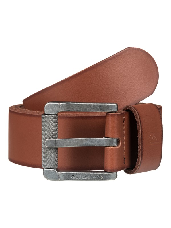 0 The Everydaily Leather Belt Brown EQYAA03546 Quiksilver
