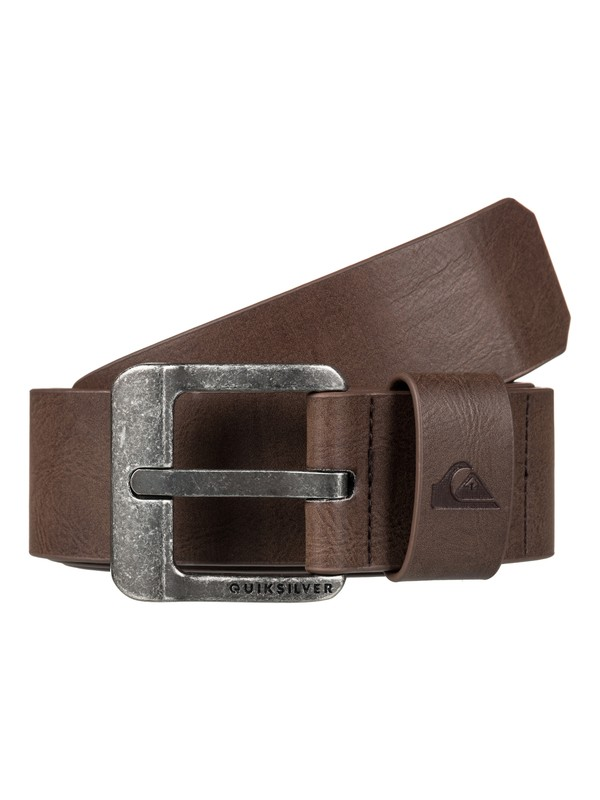 0 Men's Main Street Fake Leather Belt Brown EQYAA03558 Quiksilver