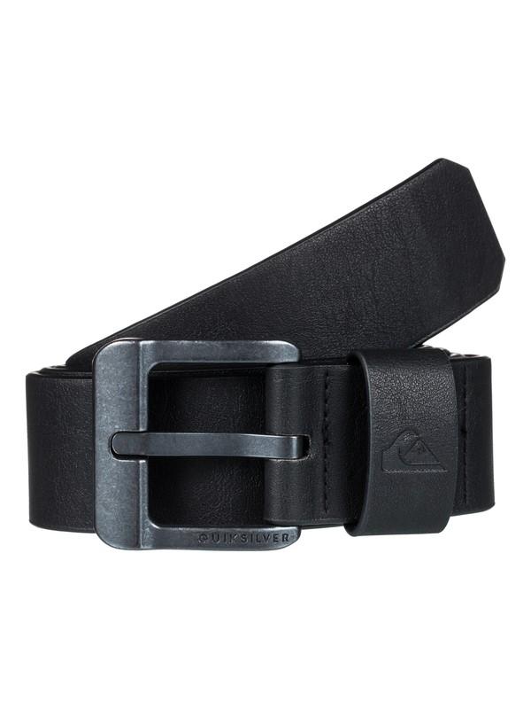 0 Main Street - Fake Leather Belt for Men Black EQYAA03558 Quiksilver