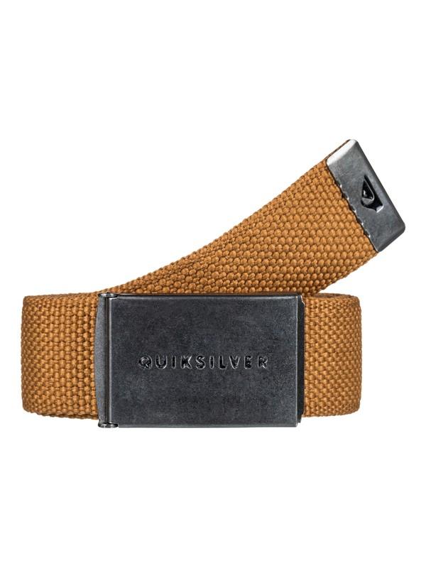 0 Principle Webbing Belt Brown EQYAA03559 Quiksilver
