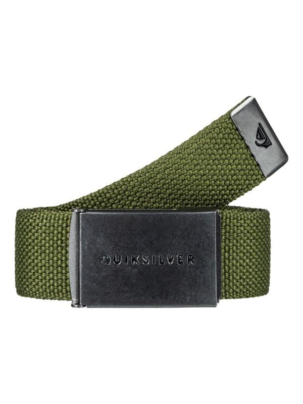 0 Principle Webbing Belt Green EQYAA03559 Quiksilver
