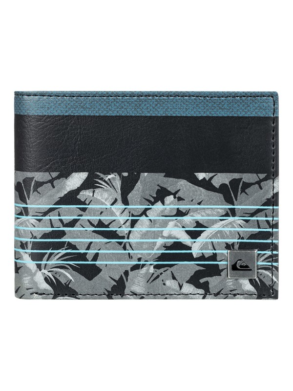 0 Men's Freshness Bi-Fold Wallet Black EQYAA03561 Quiksilver