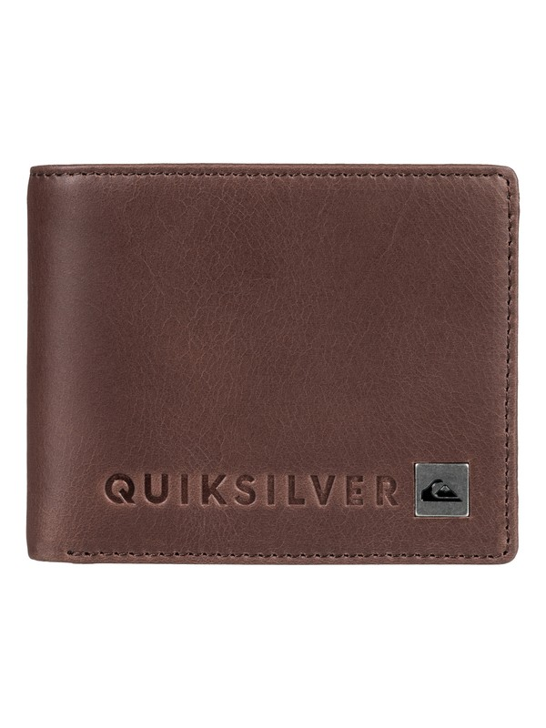0 Mack V - Bi-Fold Leather Wallet Brown EQYAA03672 Quiksilver