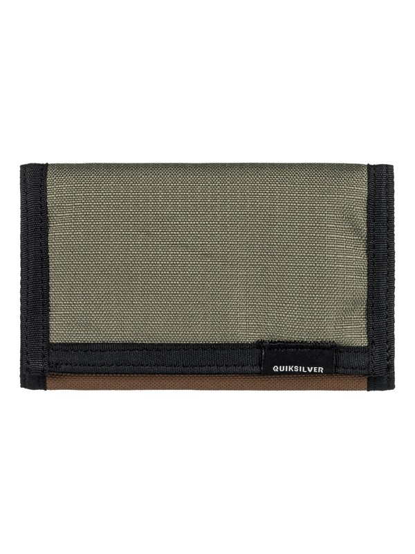 0 The Everydaily Plus II Tri-Fold Wallet Brown EQYAA03674 Quiksilver
