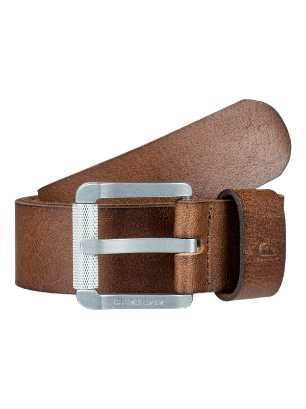 0 The Everydaily Leather Belt Brown EQYAA03683 Quiksilver