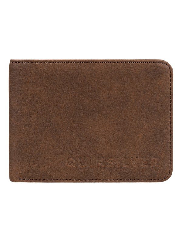 0 Men's Slim Vintage Bi-Fold Wallet Brown EQYAA03686 Quiksilver