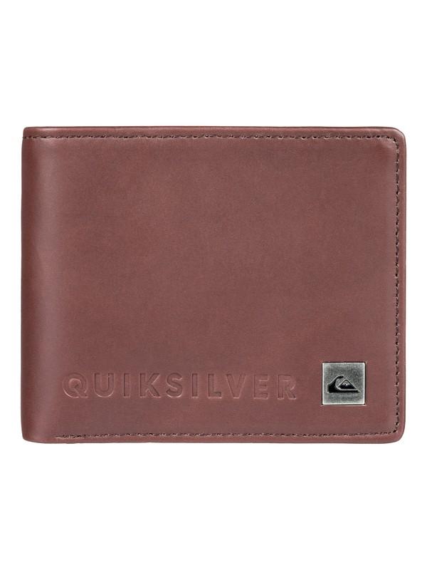 0 Mack VI Bi-Fold Leather Wallet Brown EQYAA03692 Quiksilver
