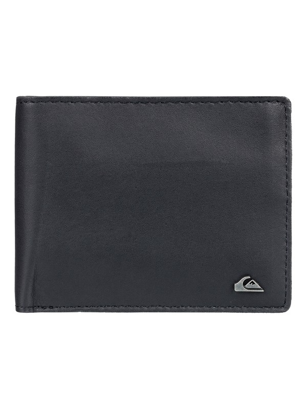 0 Acktor Bi-Fold Leather Wallet Black EQYAA03696 Quiksilver