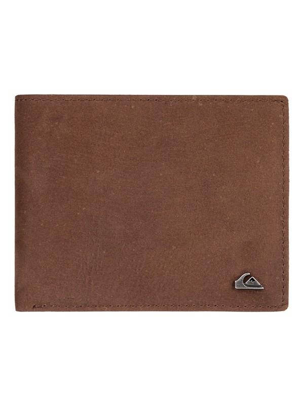 0 Men's Acktor Bi-Fold Wallet Grey EQYAA03696 Quiksilver