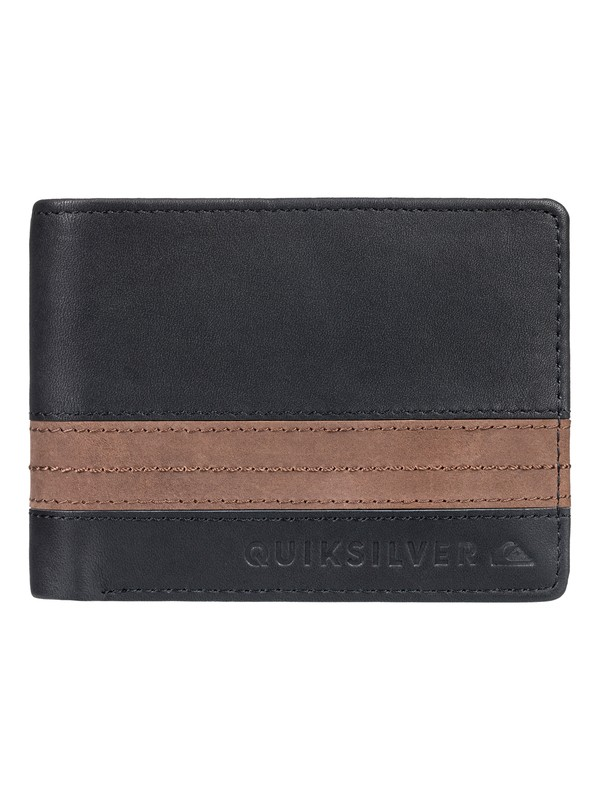 0 Men's New Classical Plus Bi-Fold Wallet Black EQYAA03702 Quiksilver