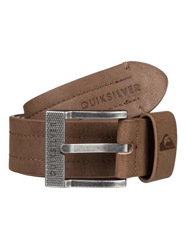 0 Men's Stitchy Fake Leather Belt Brown EQYAA03705 Quiksilver