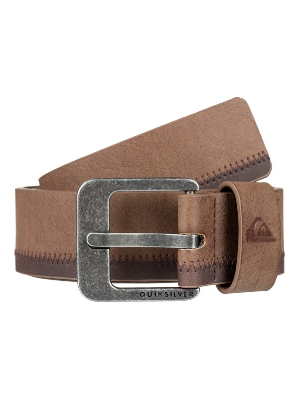 0 Binge - Faux Leather Belt for Men Grey EQYAA03706 Quiksilver