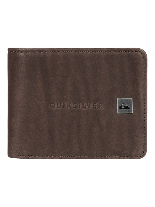 0 Mack Bi-Fold Leather Wallet Brown EQYAA03721 Quiksilver
