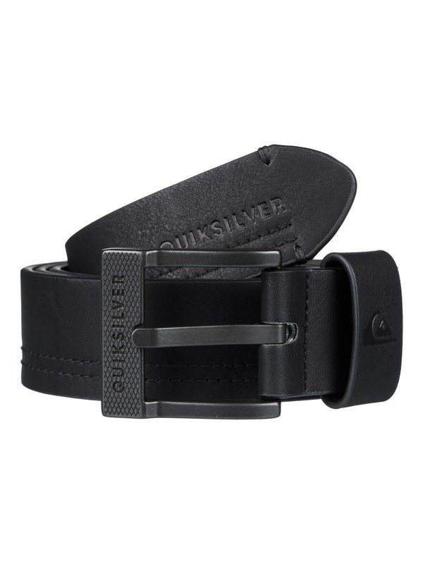 0 Stitchy Faux Leather Belt Black EQYAA03727 Quiksilver