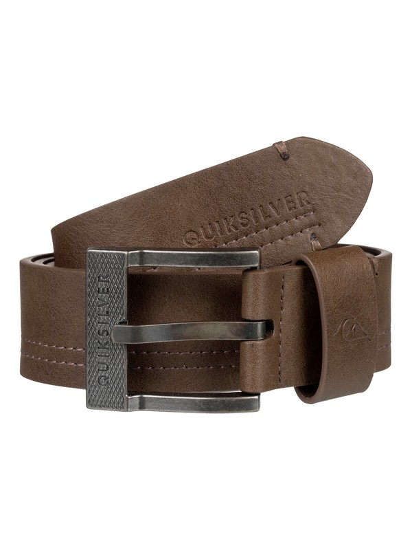 0 Stitchy Faux Leather Belt Brown EQYAA03738 Quiksilver