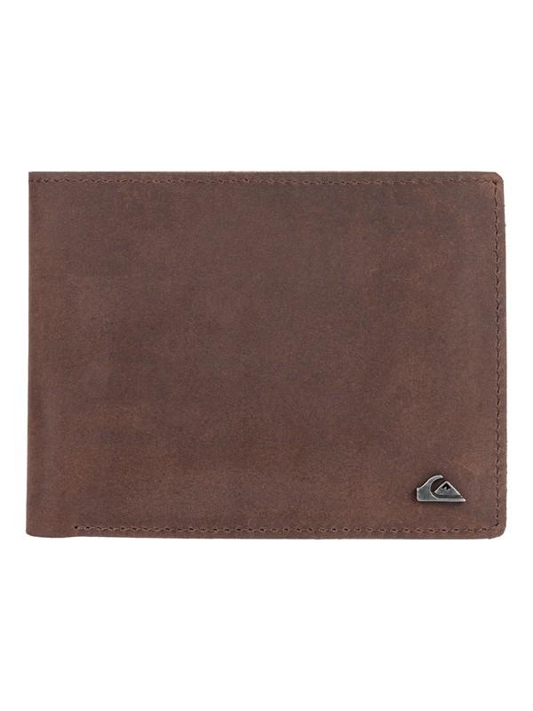 0 Acktor Bi-Fold Leather Wallet Brown EQYAA03796 Quiksilver