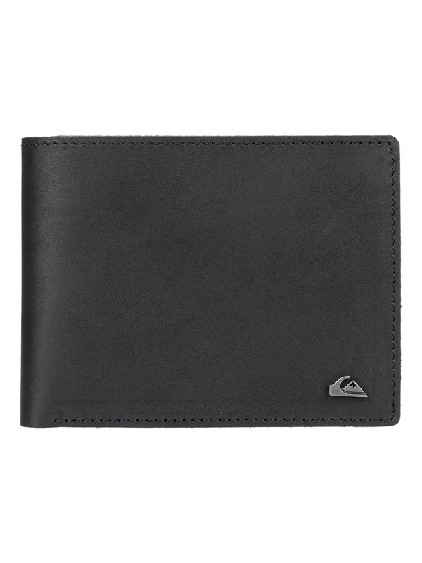 0 Acktor Bi-Fold Leather Wallet Black EQYAA03796 Quiksilver