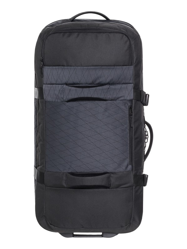 0 Men's New Reach 100L Large Wheeled Suitcase Black EQYBL03139 Quiksilver