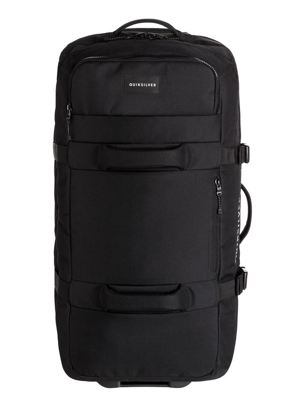 0 New Reach 100L Extra-Large Wheeled Suitcase Black EQYBL03139 Quiksilver