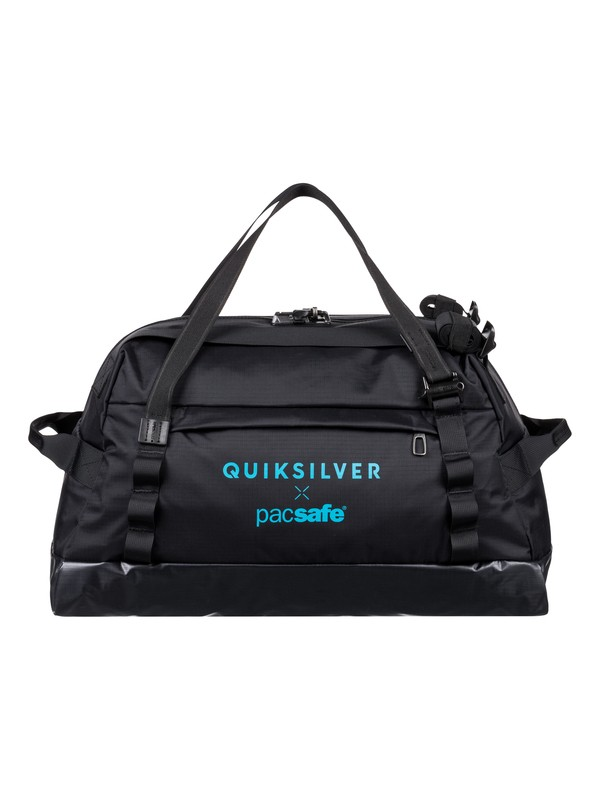 0 Pacsafe X QS 40L Large Anti-Theft Wet/Dry Duffle Bag Black EQYBL03168 Quiksilver