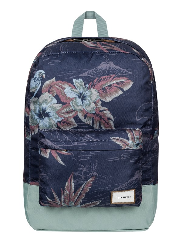 0 Night Track Print - Medium Backpack Blue EQYBP03278 Quiksilver