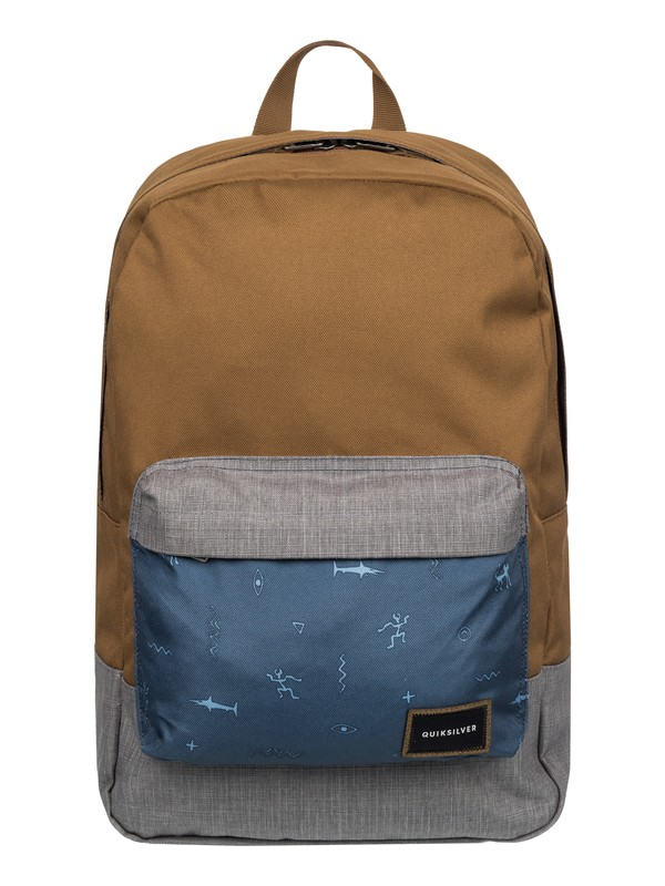 0 Night Track Print - Medium Backpack Brown EQYBP03278 Quiksilver