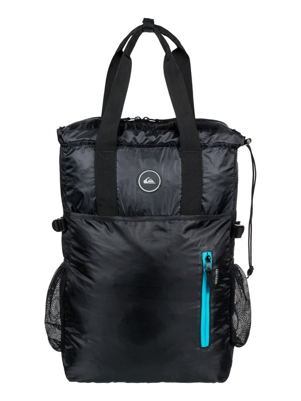0 Quiksilver 18L Packable Medium Tote Bag Black EQYBP03496 Quiksilver