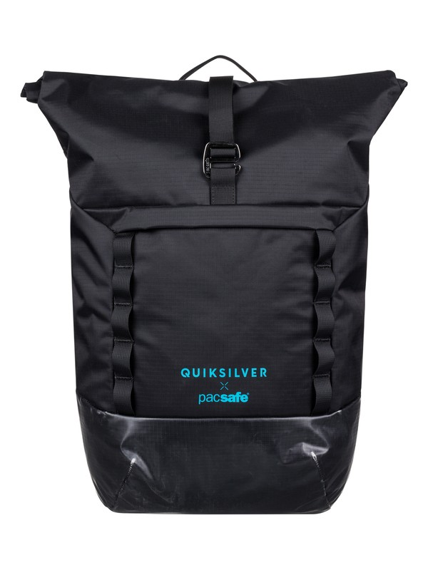 0 Pacsafe X QS 30L Large Anti-Theft Wet/Dry Backpack Black EQYBP03552 Quiksilver