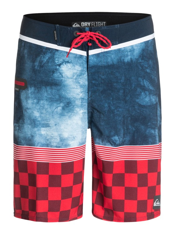 """0 AG47 Check Trip 21"""" Repreve Boardshorts  EQYBS03139 Quiksilver"""