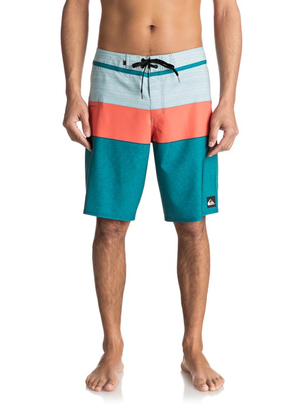 "0 Everyday Blocked Vee 20"" Boardshorts Blue EQYBS03573 Quiksilver"