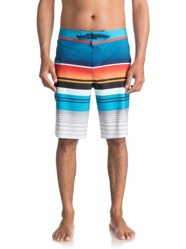 """0 Everyday Stripe Vee 21"""" Boardshorts Orange EQYBS03575 Quiksilver"""