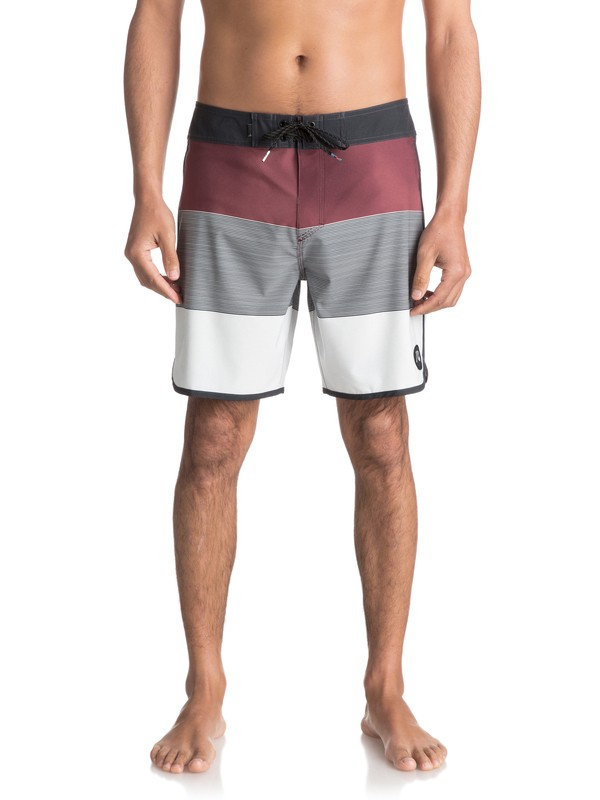 "0 Tijuana Scallop 18"" - Boardshorts Rot EQYBS03755 Quiksilver"