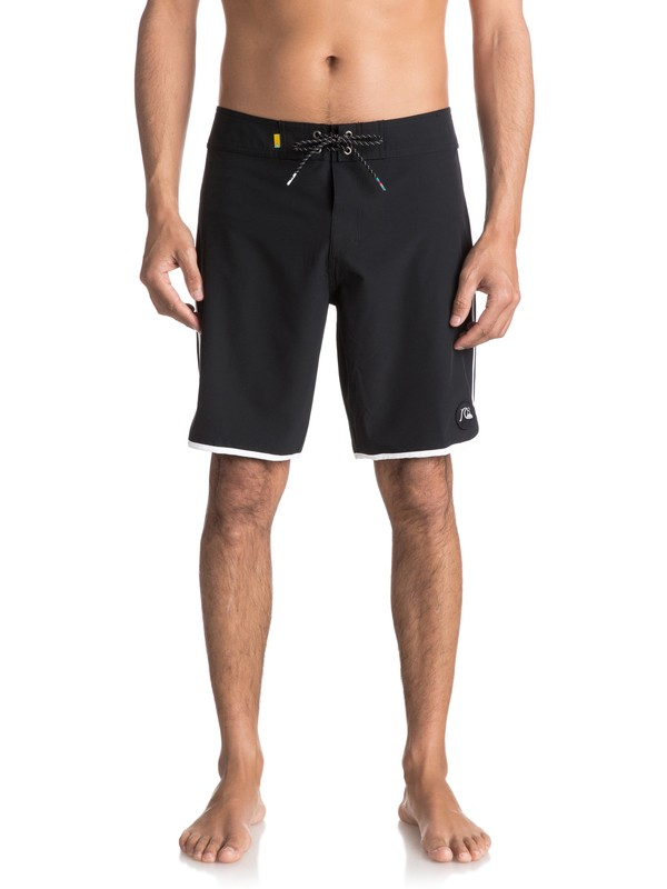 "0 The Scallop 19"" Boardshorts Black EQYBS03766 Quiksilver"