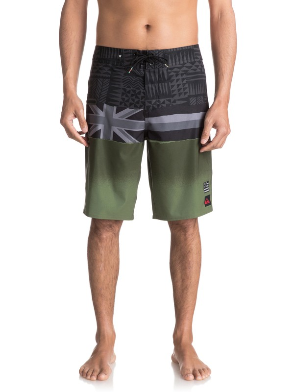 "0 Blocked Hawaii Flag 21"" Boardshorts Black EQYBS03786 Quiksilver"