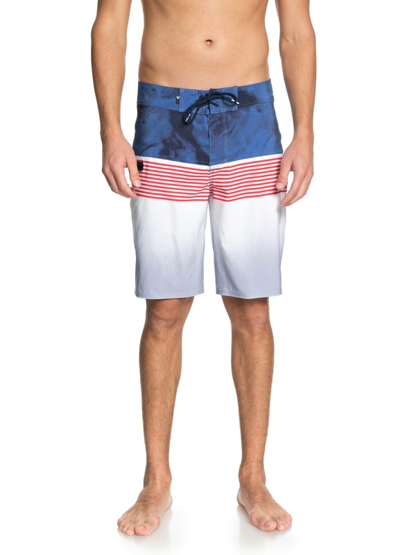 "0 Highline Lava Division 20"" Boardshorts White EQYBS03846 Quiksilver"